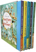 Usborne Lift-the-flap Questions and Answers 5 Books Collection Box Set (Series 1) by Katie Daynes (Author), Marie-Eve Tremblay (Illustrator)