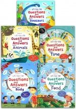 Usborne Lift-the-flap Questions and Answers 5 Books Collection Box Set by Katie Daynes (Author), Marie-Eve Tremblay (Illustrator)