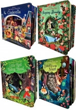 Usborne Peep Inside a Fairy Tale Collection 4 Books Set (Cinderella, Sleeping beauty, Beauty and beast, Little Red Ridding Hood) by Anna Milbourne