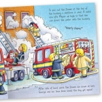 Miles Kelly Convertible Fire Station 3 in 1 Storybook Building and Playmat by Claire Philip