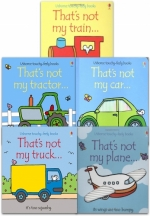 Thats Not My Transport Collection Usborne Touchy-Feely 5 Books Set (Thats Not My Car, Train, Tractor, Plane, Truck) by Fiona Watt