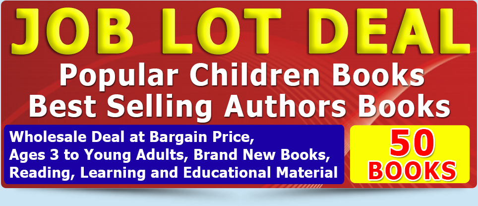 Joblot Wholesale of 50 New Childrens Books