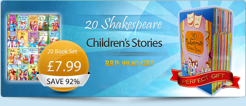 Shakespeare Stories Collection pack box Set 20 childrens Books